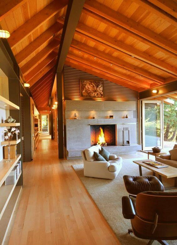 amenajari interioare case din lemn